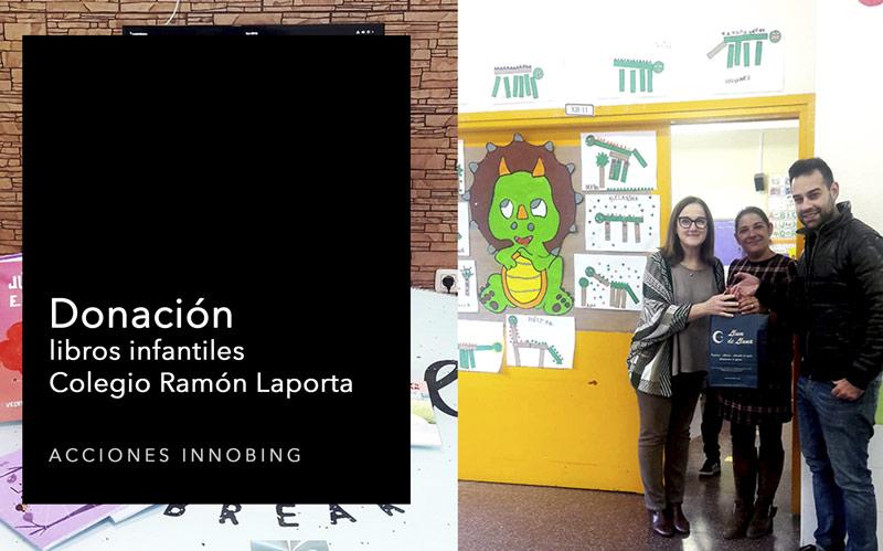 Donación libros infantiles al colegio Ramón Laporta