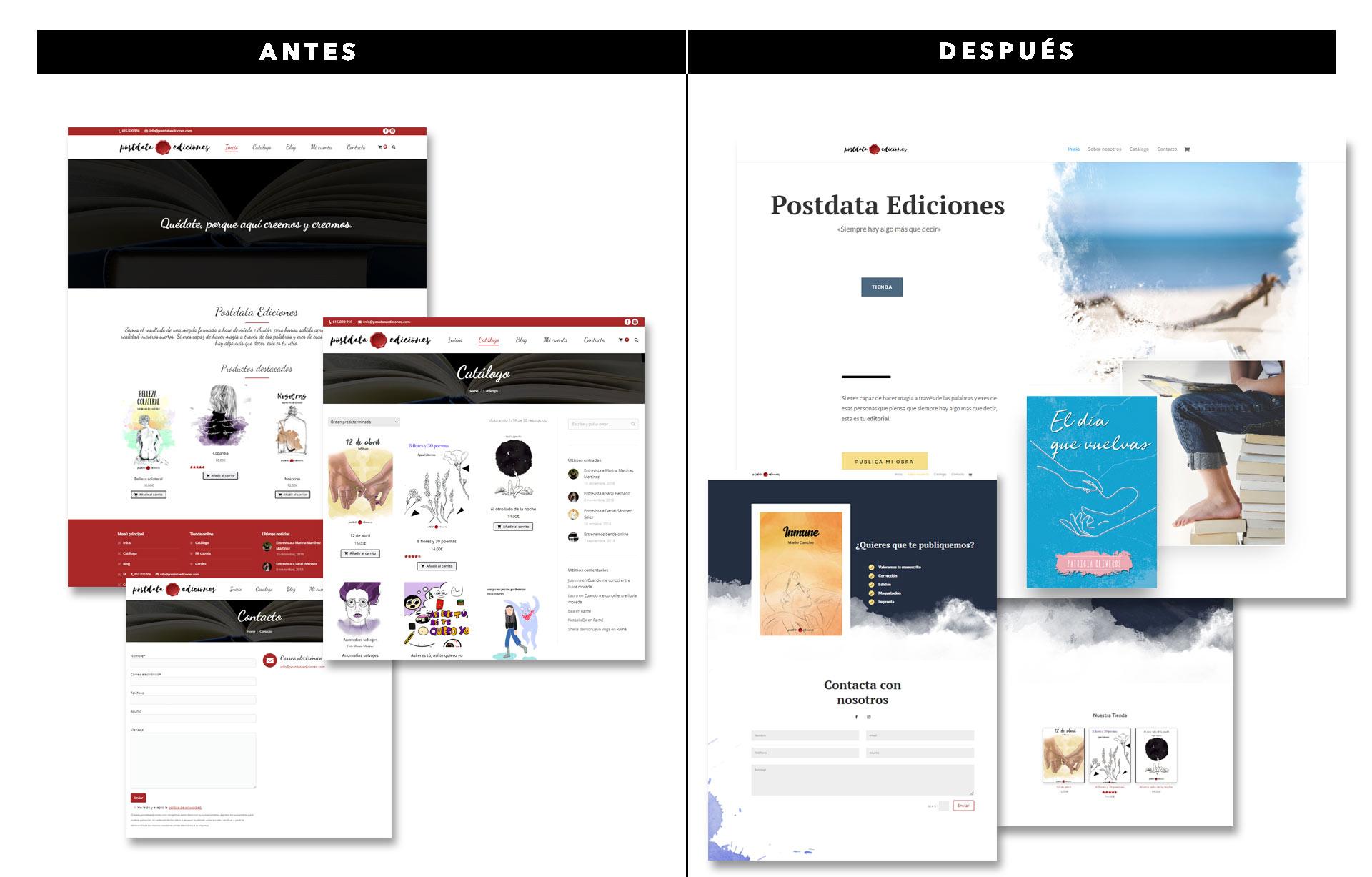 Rediseñar tu web: Antes y después