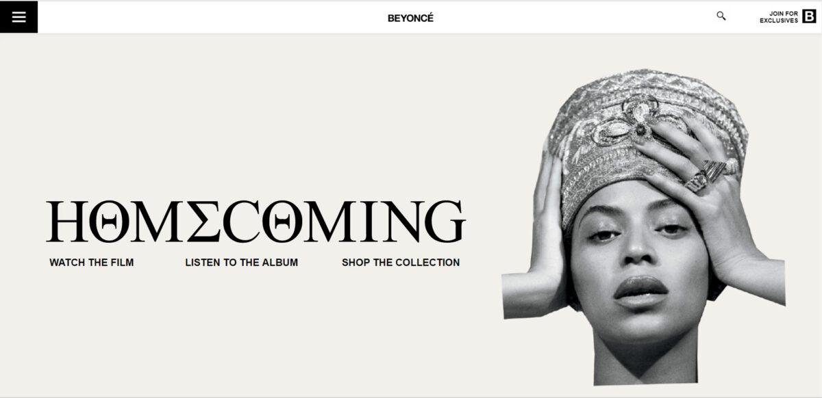 Cabecera Web Beyoncé