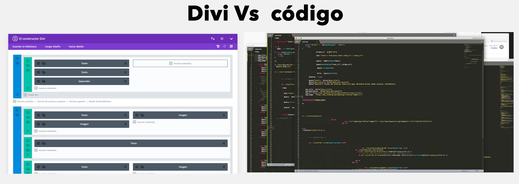 Divi vs. Código