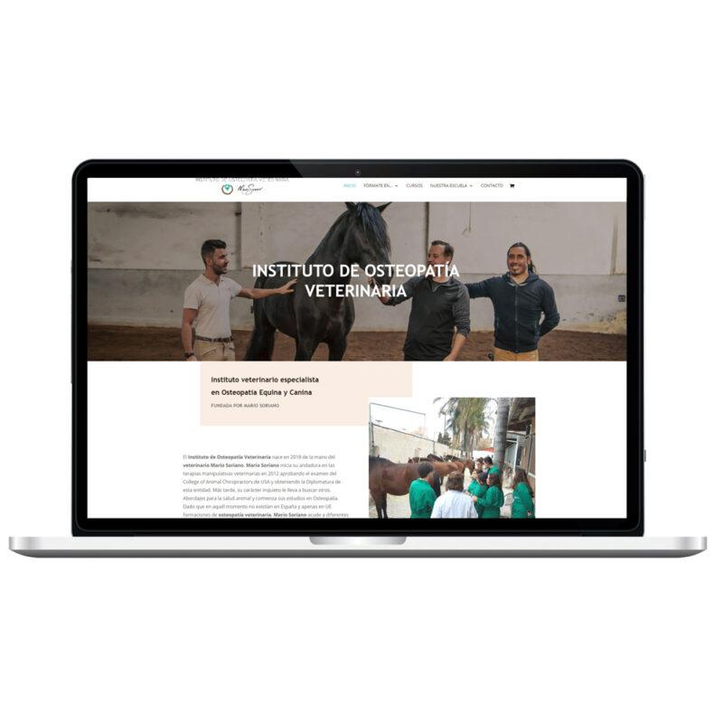 Web Instituto de Osteopatía Veterinaria