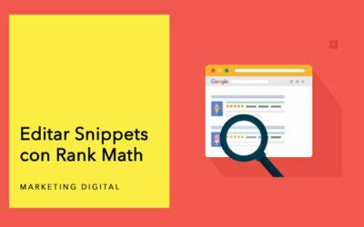 Editar Snippets con Rank Math