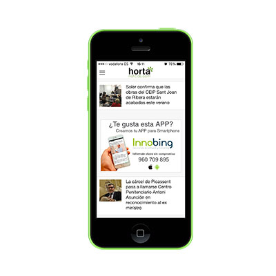 Innobing hortanoticias app